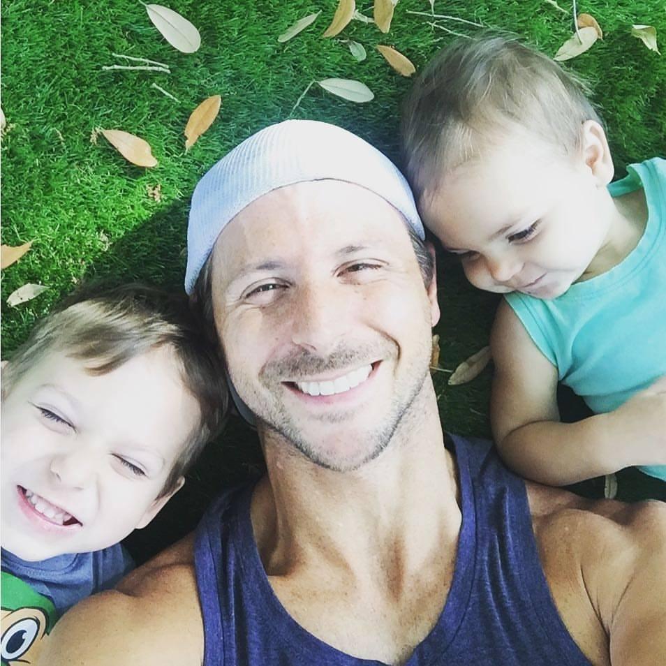 Todd and his kiddos, Simon and Charlotte.