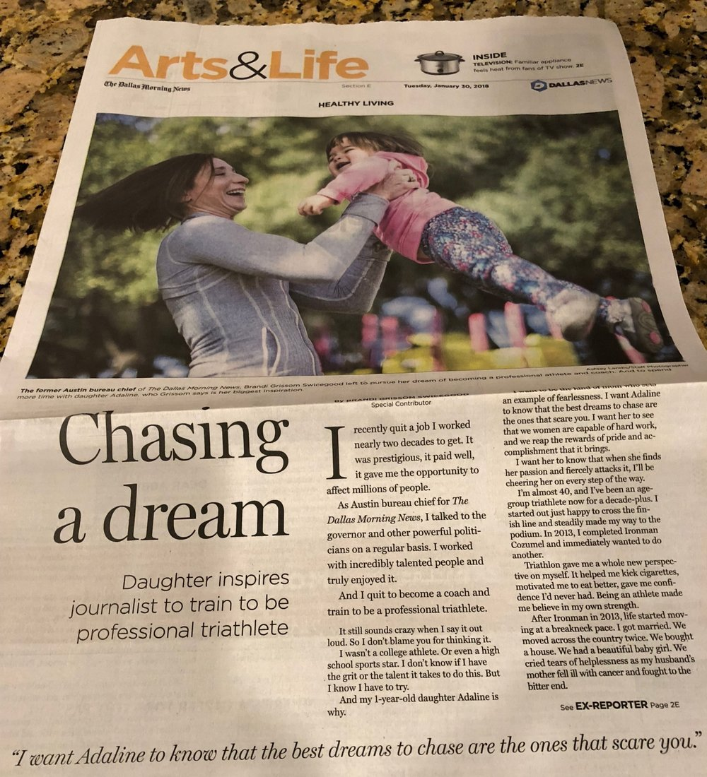 Adaline's first picture in the newspaper. :)