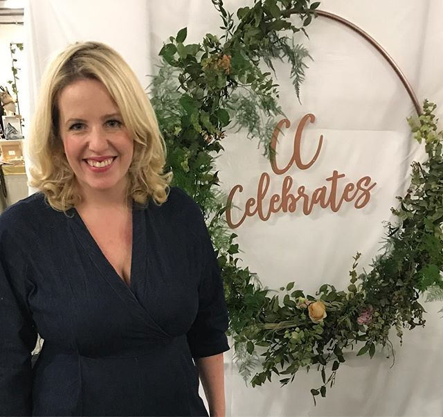 Stall smiles. Opening night of @mostcurious.  Come and say hi! • • • • • • • • • • • • #mostcurious #weddingfair #celebrant #floralhoop #fabsuppliers #ceremonybackdrop #cheesygrin
