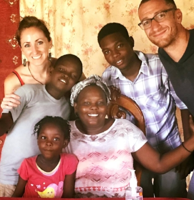 We had dinner with a special Haitian family who not only fed us, but before we left, prayed for our marriage and commitment to helping Haiti recover from life.