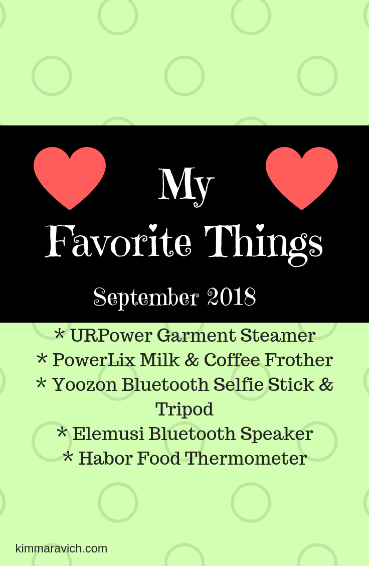 URPower Garment Steamer, Yoozon Selfie Stick & Tripod, PowerLix Coffee Frother, Elemusi Bluetooth Speaker, Habor meat thermometer