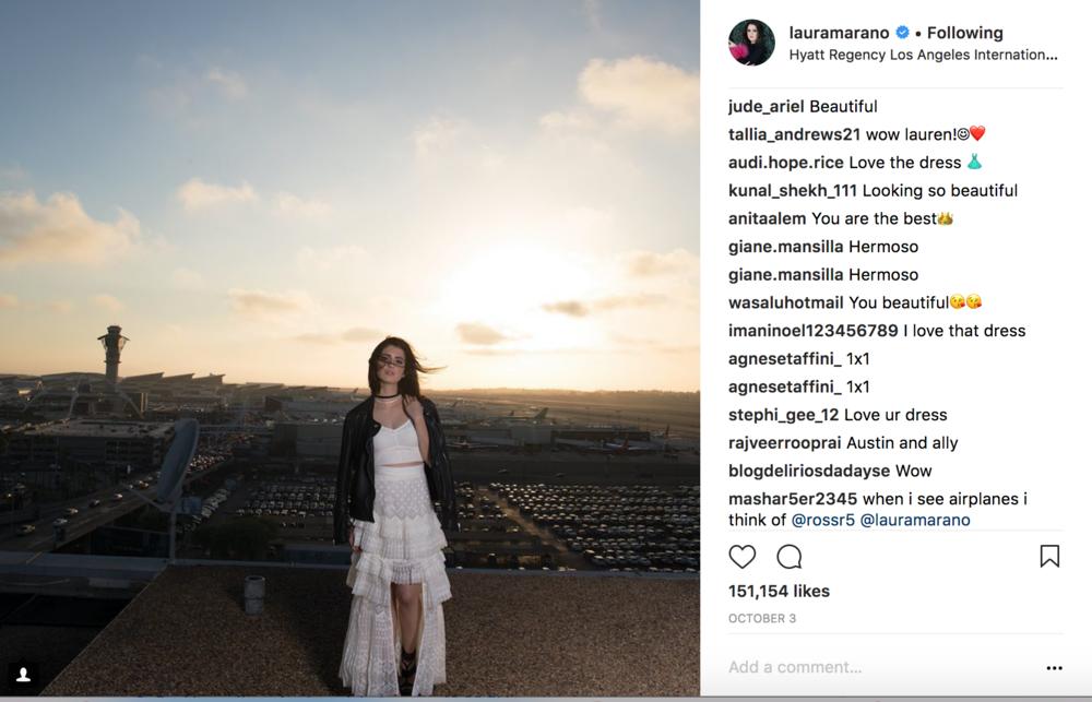 Laura Marano IG Post Hyatt Regency LAX.png