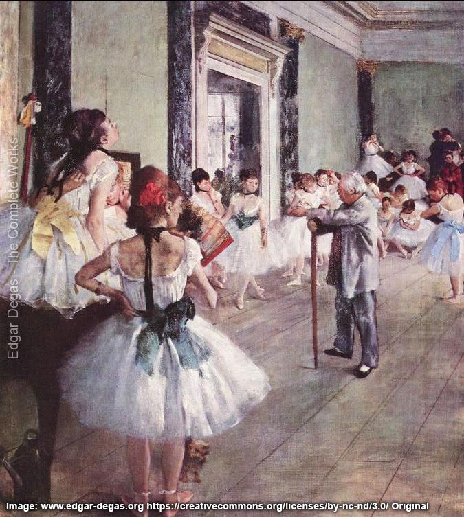 Degas Dance Class painting