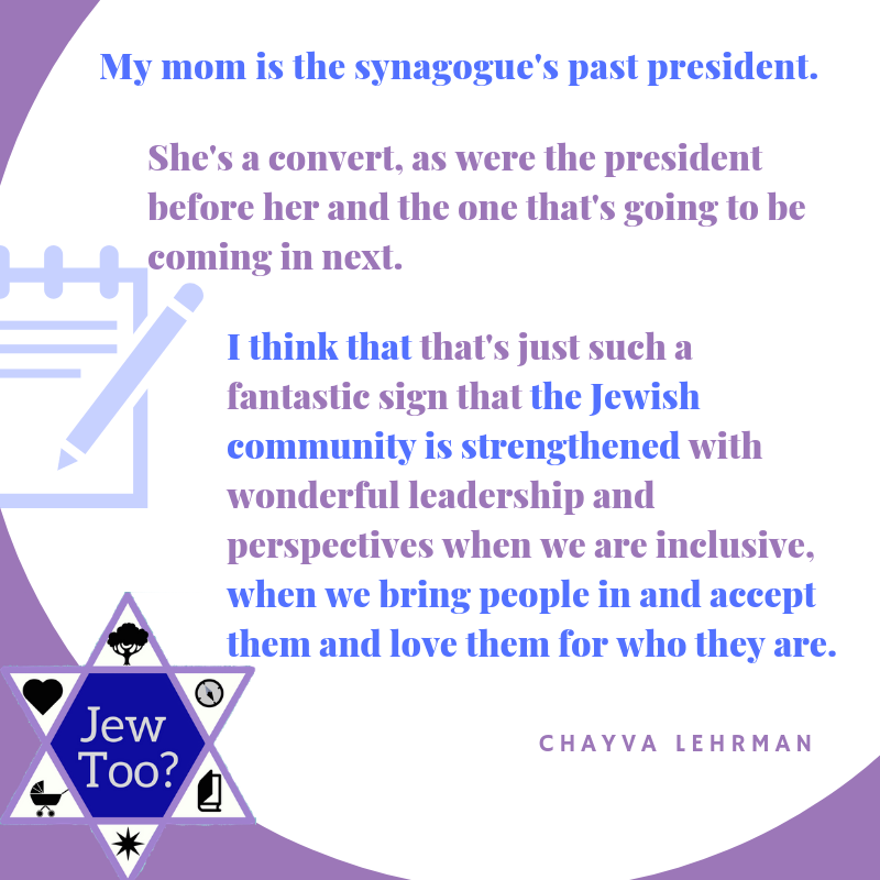 The current synagogue president is married to a non-Jew. My mom is the past president. She's a convert, as were the president before her and the one that's going to be coming in next..png