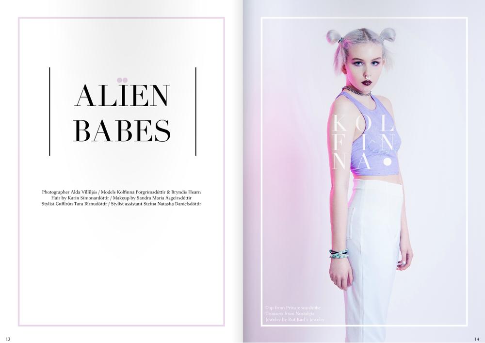 The new issue 01 model Kolfinna photographer Alda Villiljós