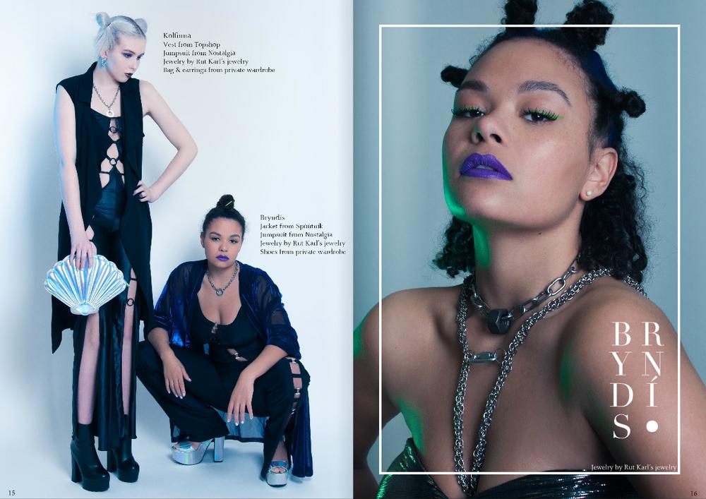 The new issue 01 model Kolfinna & Bryndís photographer Alda Villiljós