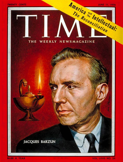 Barzun on the cover of TIME Magazine, June 11, 1956