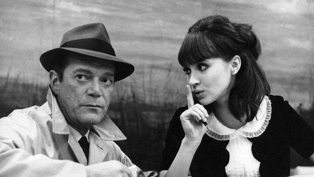 Anna Karina and Eddie Constantine