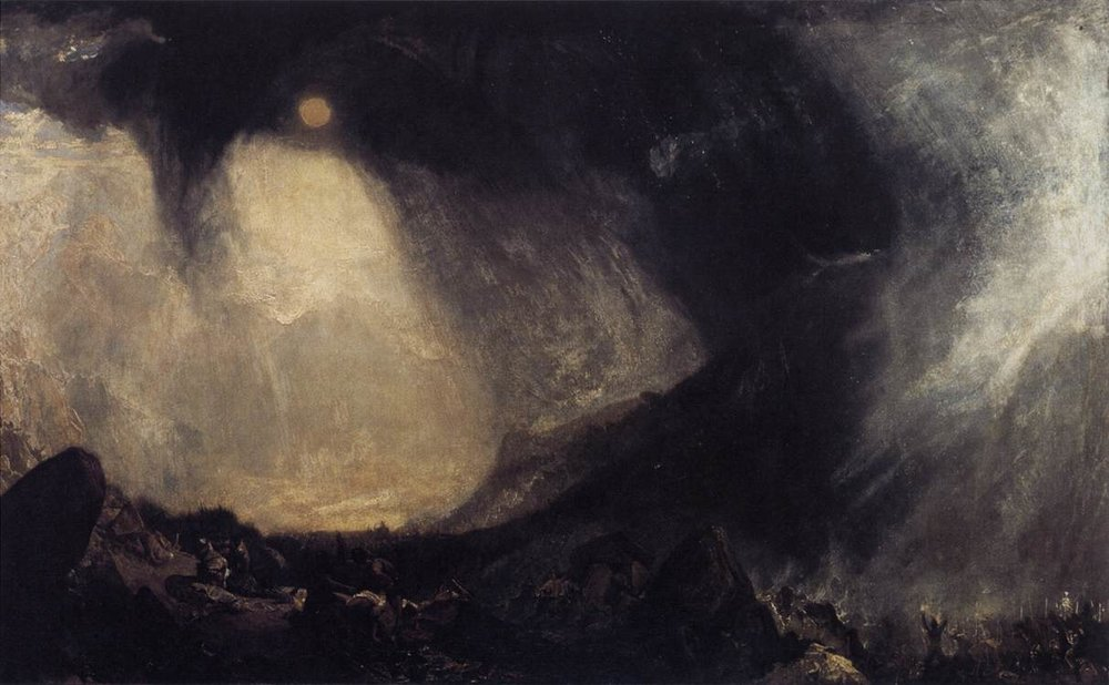 Snow Storm, Hannibal and his Army Crossing the Alps—Joseph Turner 1812