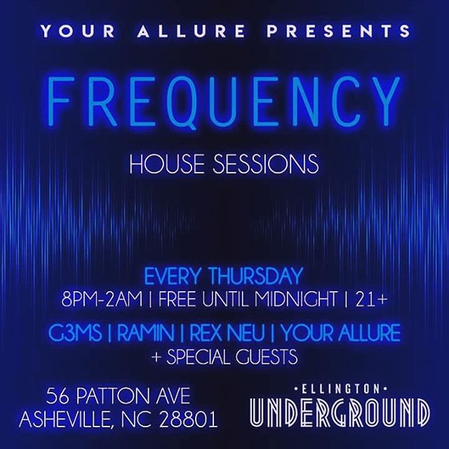 New residency at @ellingtonunderground ... #FREQUENCY #housesessions. Every Thursday. Free til 12. Choice house tunes from @g3msies, @yourallure, Ramin and Rex Nue. 9pm-2am. Drink, dance, groove, chill, 2-step, jitter bug- doesn't matter just get down here before midnight for NO COVER! 21+