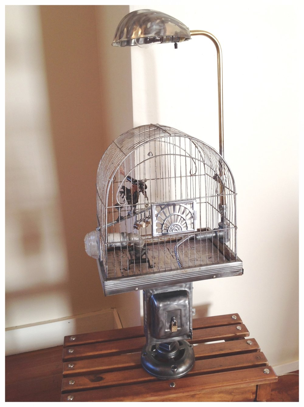 amazing stand birdcage mod floor mess so turn lamp beautiful into a an easy