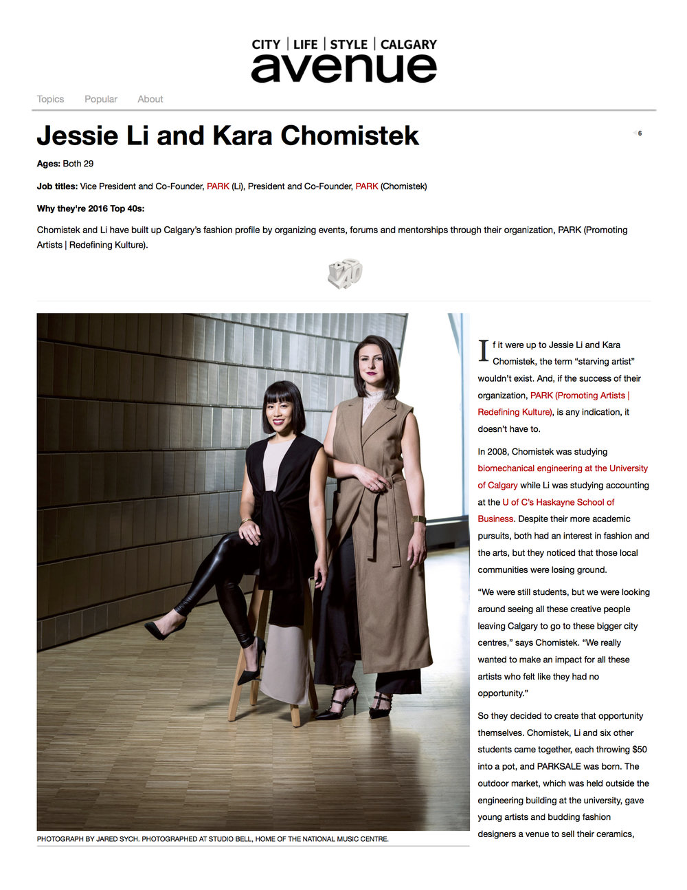 Jessie Li and Kara Chomistek | Top 40 Under 40 | Avenue Calgary.jpg