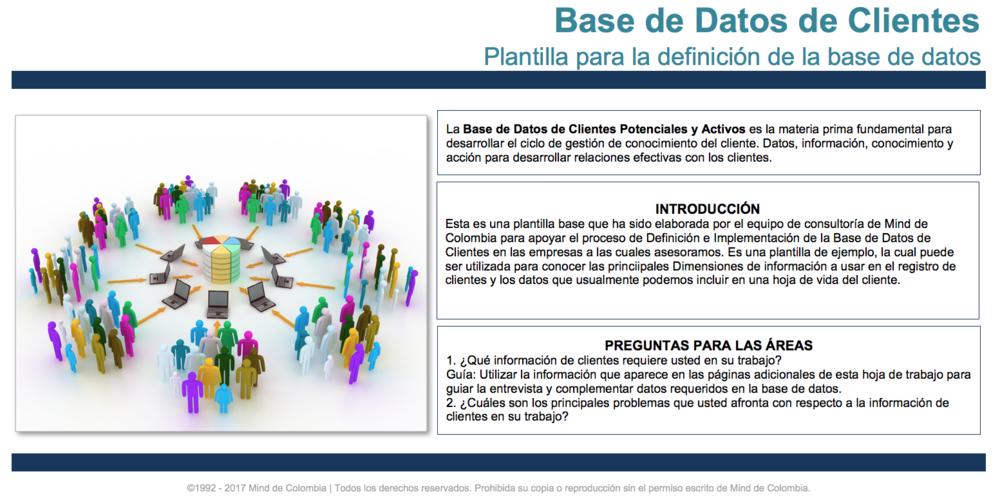 Plantilla Excel de CRM Mind de Colombia