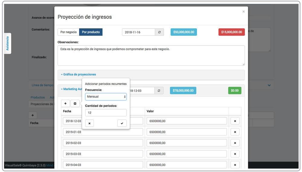 Proyeccion Ingresos Producto VisualSale CRM.jpg