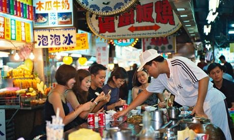 Night shift … a food stall at Shilin night market, one of more than 100 in Taipei. Photograph: Alamy