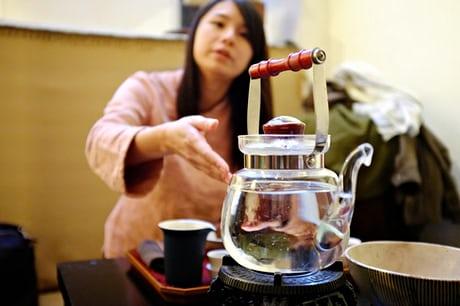 A tea ceremony. Photograph: Lap-Fai Lee