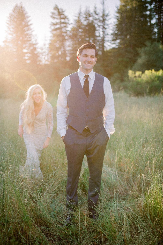 bride and groom wedding golden hour outdoor wedding makeup and hair beauty love