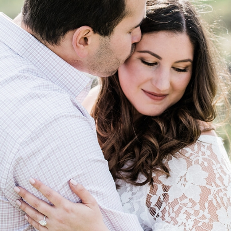 happy couple engagement photoshoot in livermore california rose toned makeup dark neutral lip kim baker beauty san jose california makeup artist