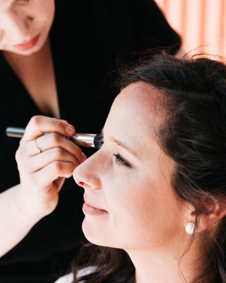 wedding makeup application calm bride kim baker beauty san jose california makeup artist travel to sutter creek