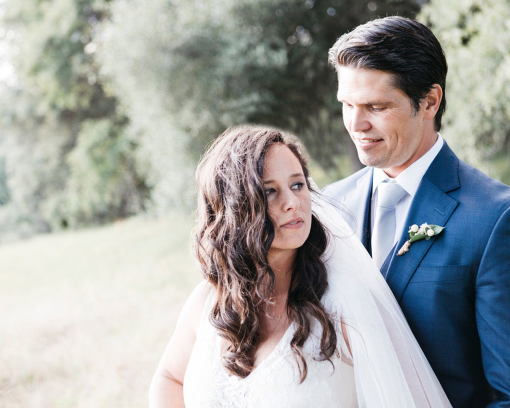 bride and groom portrait curled hair with veil kim baker beauty san jose california makeup artist travel to sutter creek