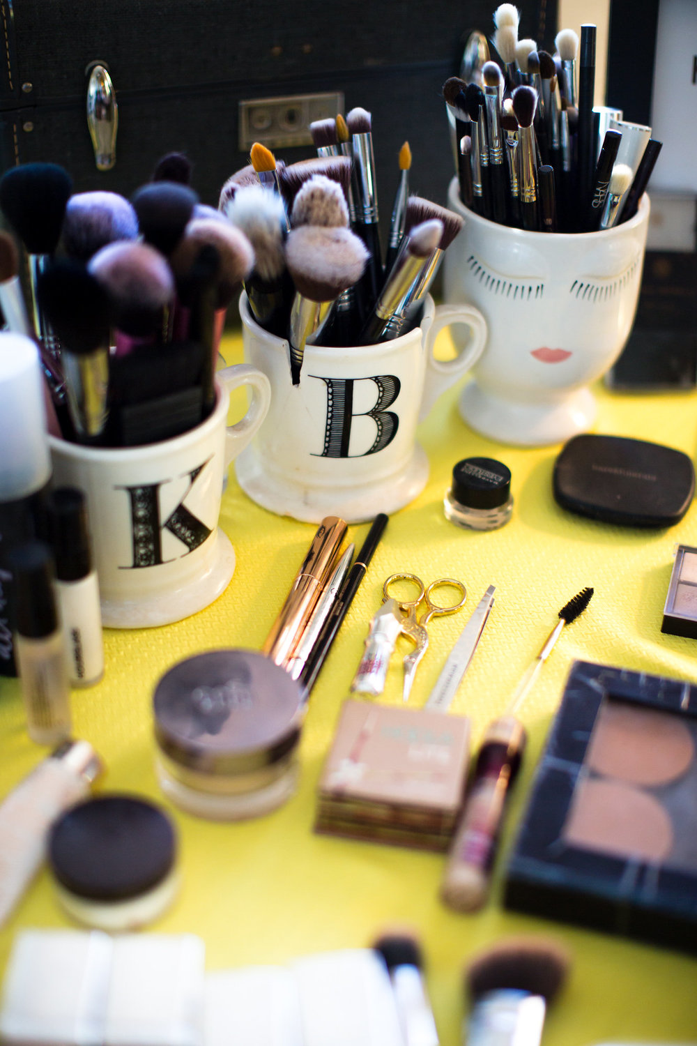 anthropologie mugs holding makeup brushes kim baker beauty san jose makeup artist at the holly farm in carmel valley