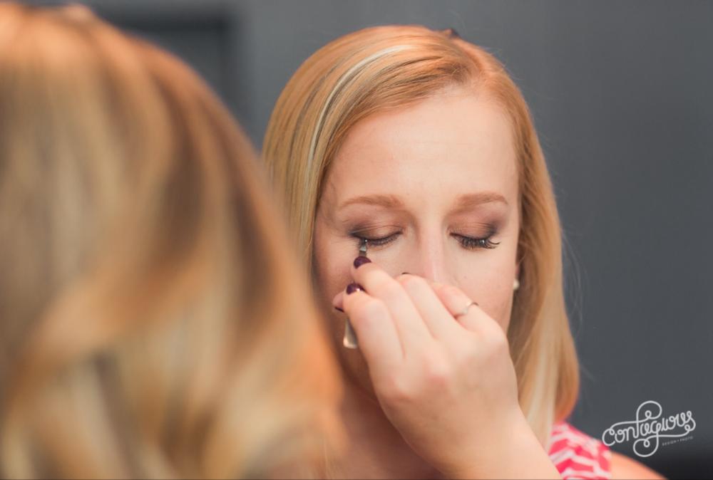 kim baker beauty san jose california makeup artist applying ardel short individual temporary lashes for a subtle natural glam bridal makeup look