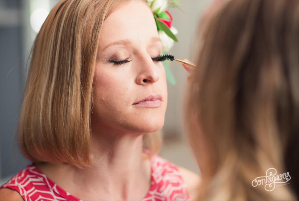 kim baker beauty san jose california makeup artist applying makeup for a subtle natural glam bridal makeup look