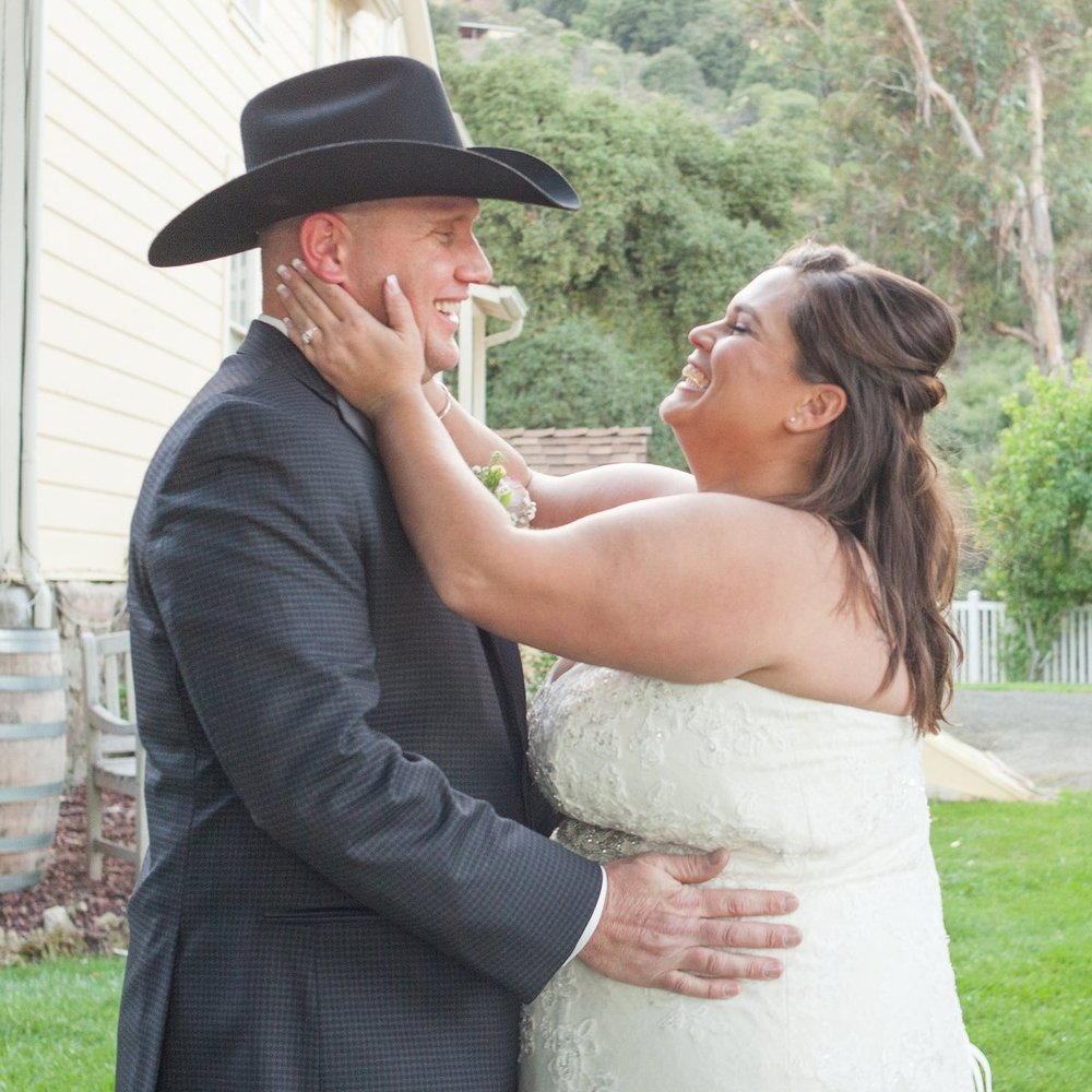 bride and groom first look at picchetti winery in cupertino makeup by kim baker beauty san jose california makeup artist