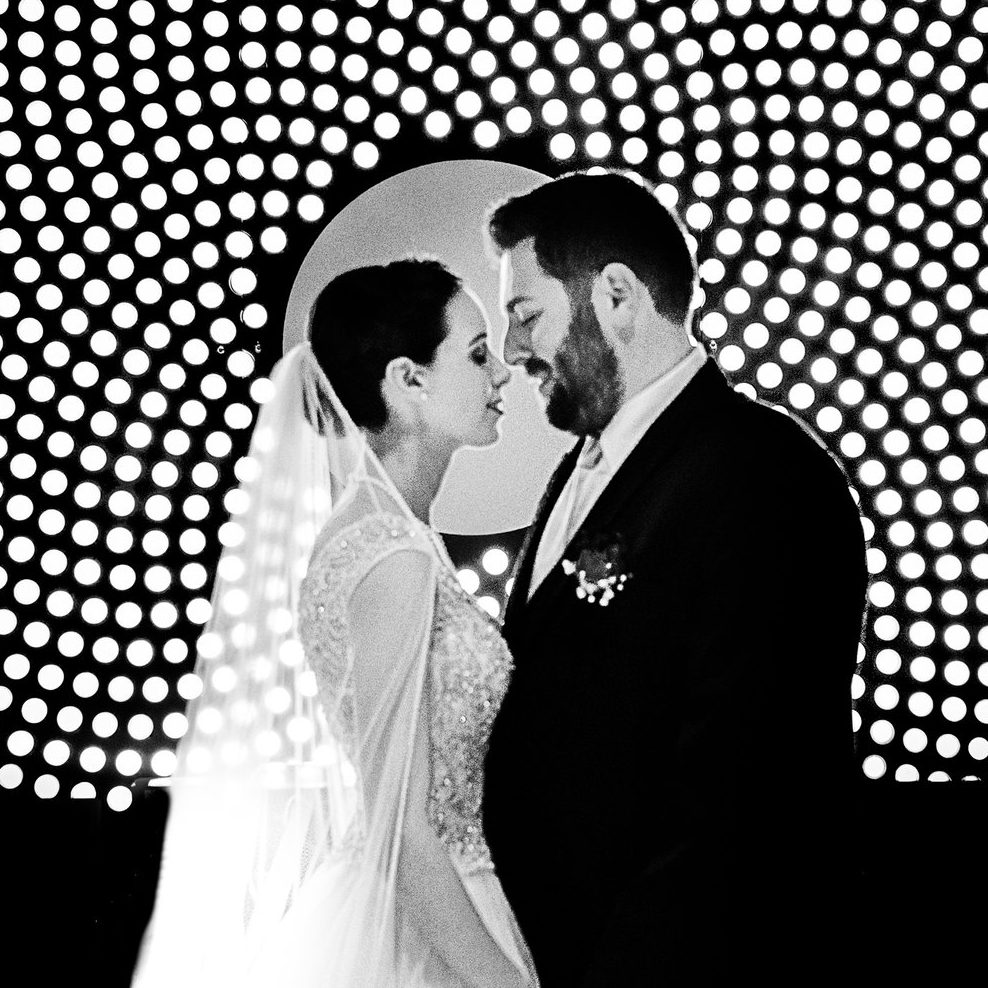 bride and groom black and white photo wedding at the tech museum makeup by kim baker beauty san jose california makeup artist