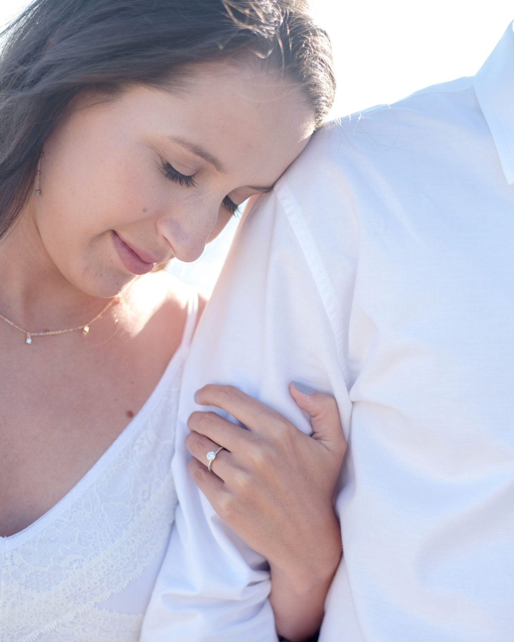 soft natural glowing glam for engagement session by bridal and lifestyle makeup artist kim baker beauty photos by quianna marie photo at davenport beach santa cruz california