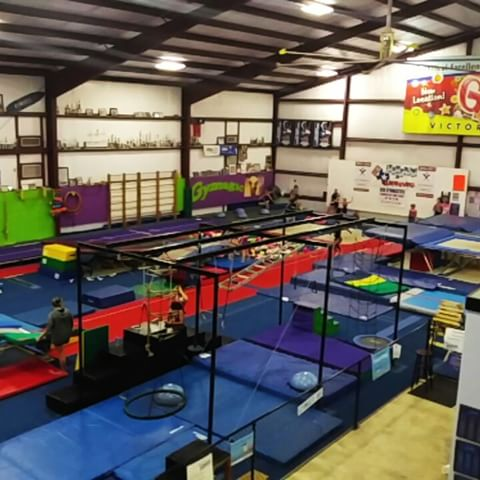 Foam pit, ninja course, and a rod tumbling floor.
