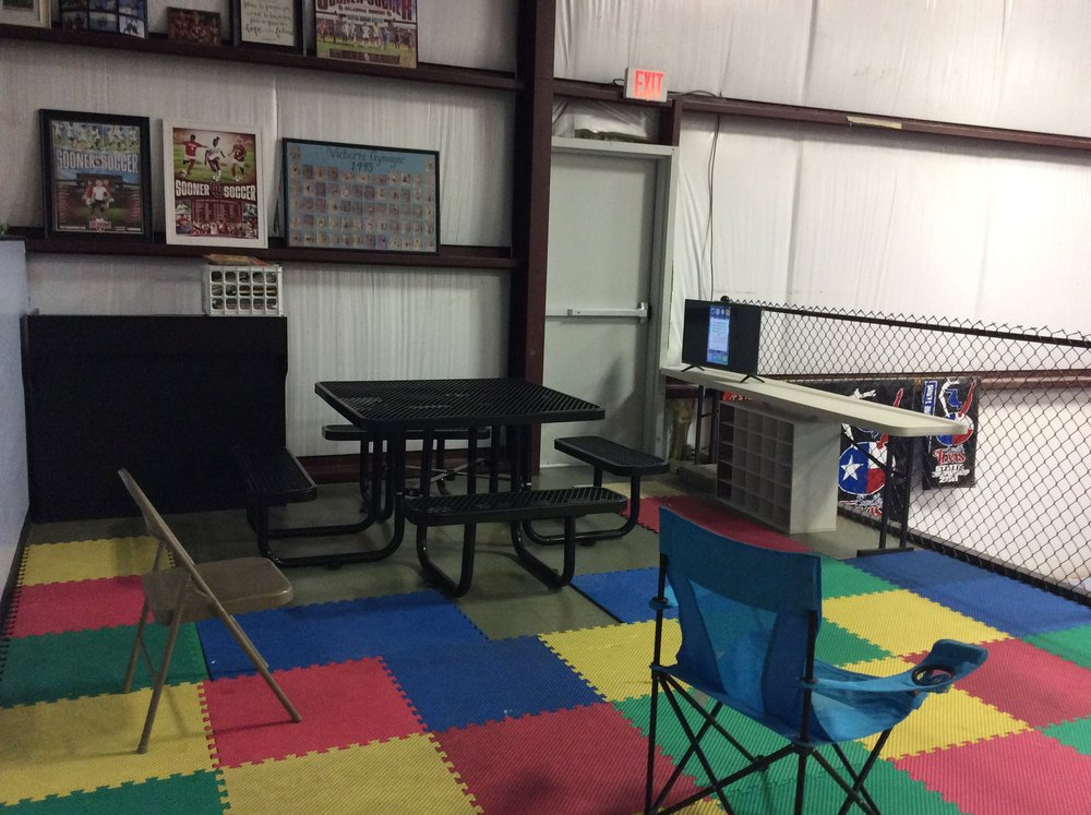 We have a viewing area for our preschool room. You can comfortably sit upstairs while watching your preschool learn many new skills, treats, and have lots of fun.