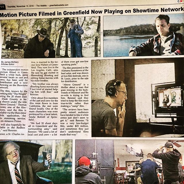 Local paper giving us some love. @showtime #featurefilm #missouri #motionpicture #local #indiefilm #supportindiefilm #mustwatch