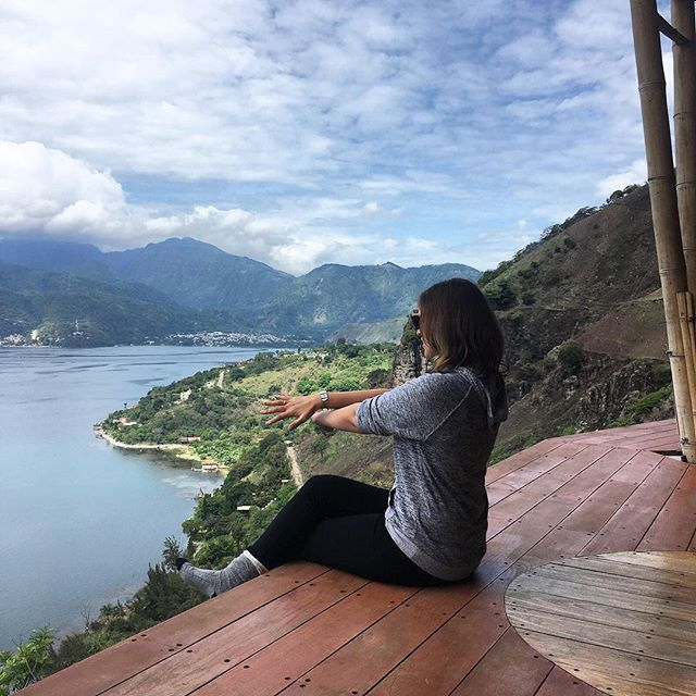 Contemplating life or doing some form of awkward yoga? You decide. #thatview #digitalnomad 🌎 . . . . . #digitalnomads #sanmarcoslalaguna #guatemala #throwback #views #stunning #nature #volcanos #remote #remotework #remoteworklife #digitalnomadlife #workandtravel #remoteworksummit #nomad #nomadlife #glt #dng #explore #travel #seetheworld #nature