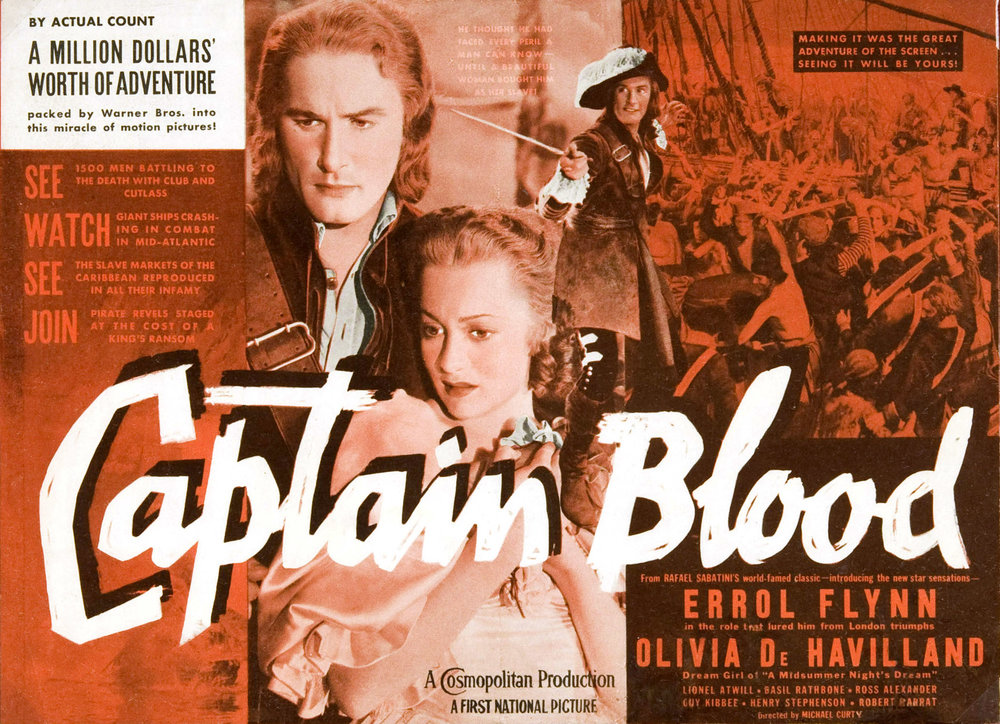 Captain Blood 98 Finds Its Stars In Flynn And De Havilland
