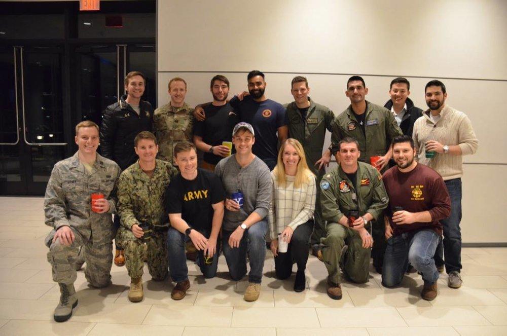 A few club members at Veterans Day Closing Bell