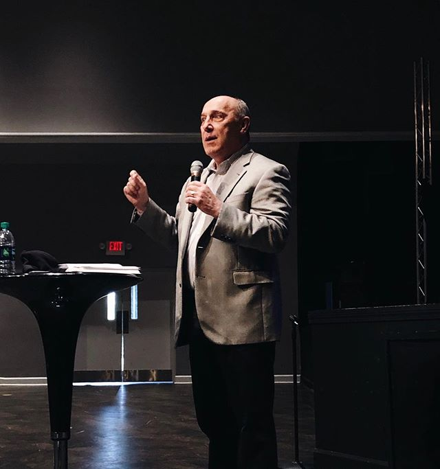 T H E  M A N  H I M S E L F - - - Today we had the absolute honor of having Dr. Ron Crum preach the Word in our Thursday chapel! |Today, and everyday, release kindness |  We challenge everyone to go do something out of the ordinary for a total stranger today. Are you up for the challenge? #saguvalor