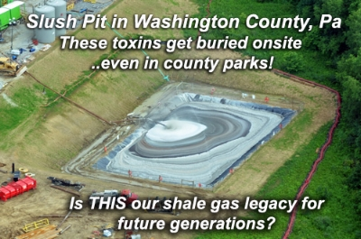 Alternate waste disposal was permitted and used to bury frac waste onsite in many locations around our county since drilling began 14 years ago. It merely has to be solidified, wrapped in plastic and buried 18-inches deep to remain indefinitely.