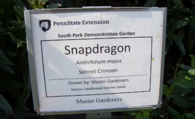 The Allegheny County Master Gardeners maintain demonstration gardens in South Park and North Park