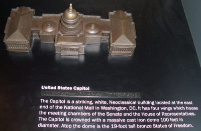 Model of the US Capitol at the Flight 93 National Memorial visitor center.