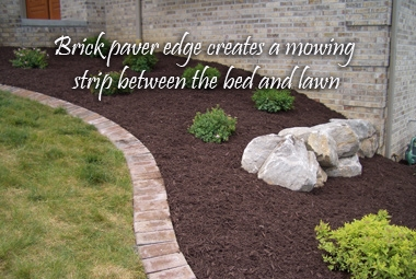 Brick Edge - (Dry mortar mix put in joints, then wet)