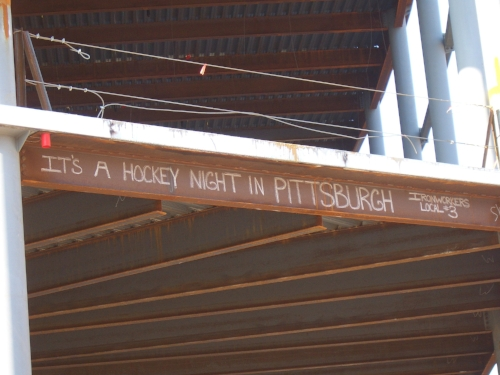 IT'S A HOCKEY NIGHT IN PITTSBURGH   Ironworkers Local #3  SW
