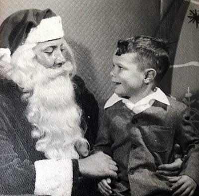 One of the first times I met Santa Claus. He's been a good friend ever since!