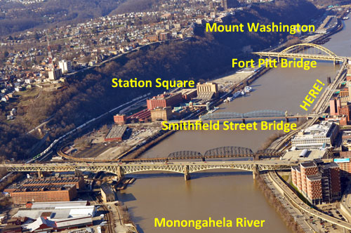 The Mon Wharf is directly across the Monongahela River from Station Square and has free parking for this event provided the river isn't above flood stage.