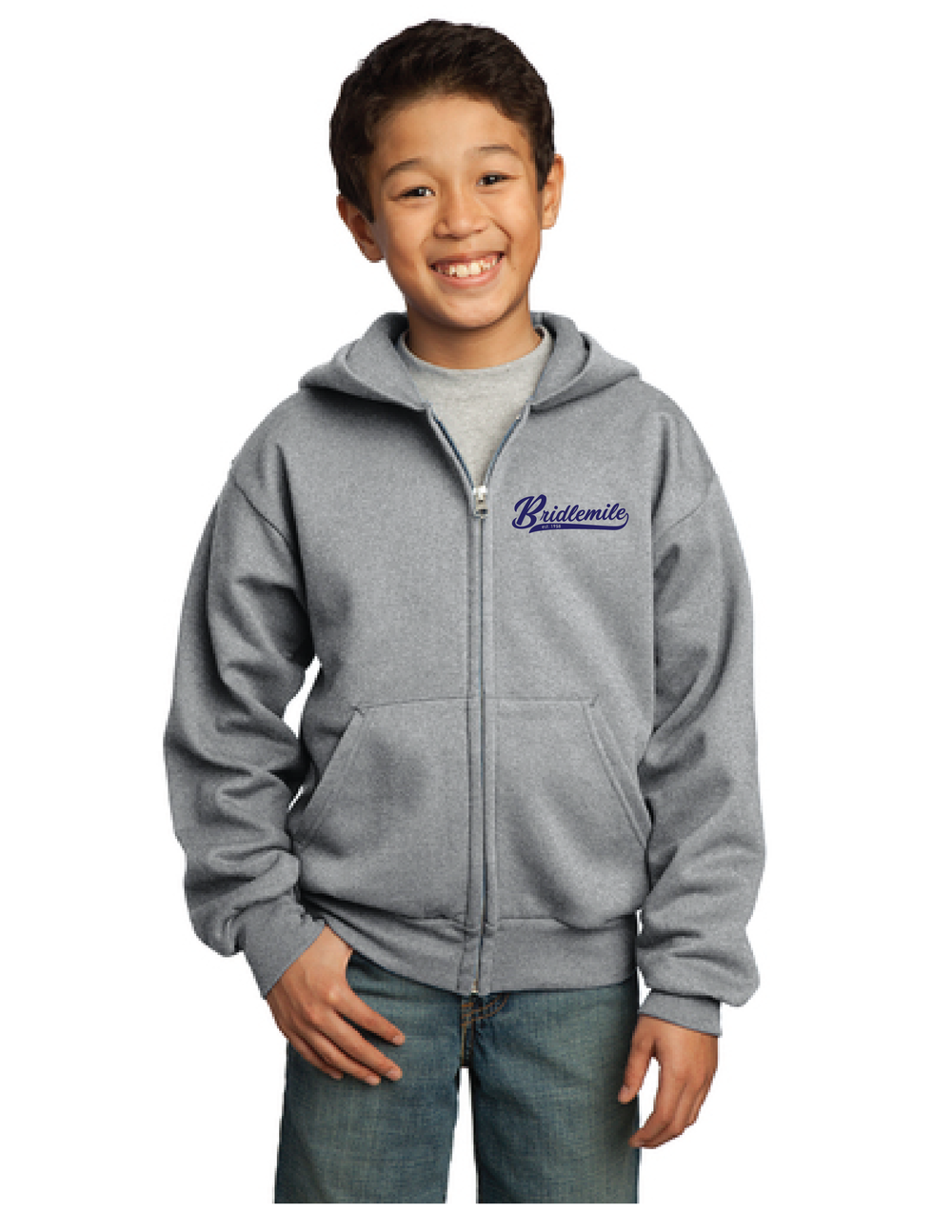 Bridlemile 60th Anniversary Designs_60th Embroidered Zip Hoodie Youth.png