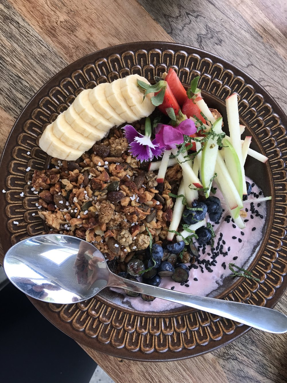 Vegan granola at Folk