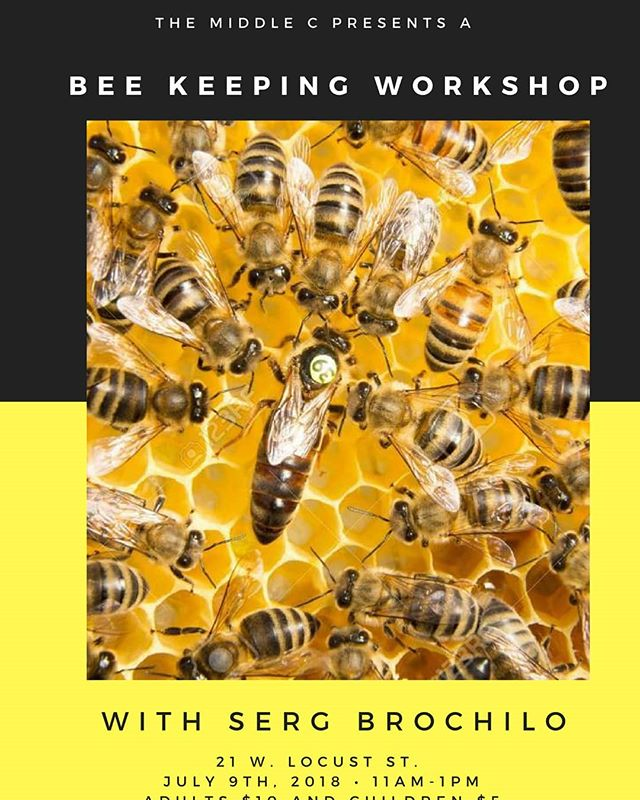 Bee Keeping Workshop and Honey Tasting at the Middle C this Monday, January 9th, at 11 am! Be there and learn about bees and harvesting honey!  Adults $10 and Childeren $5 Tickets at www.themiddlec.org #beekeeping #honey #honeytasting #bees #workshop #harvesthoney #norcal #sanjoaquincounty #Lodi #local #California #visitlodi #getstuck