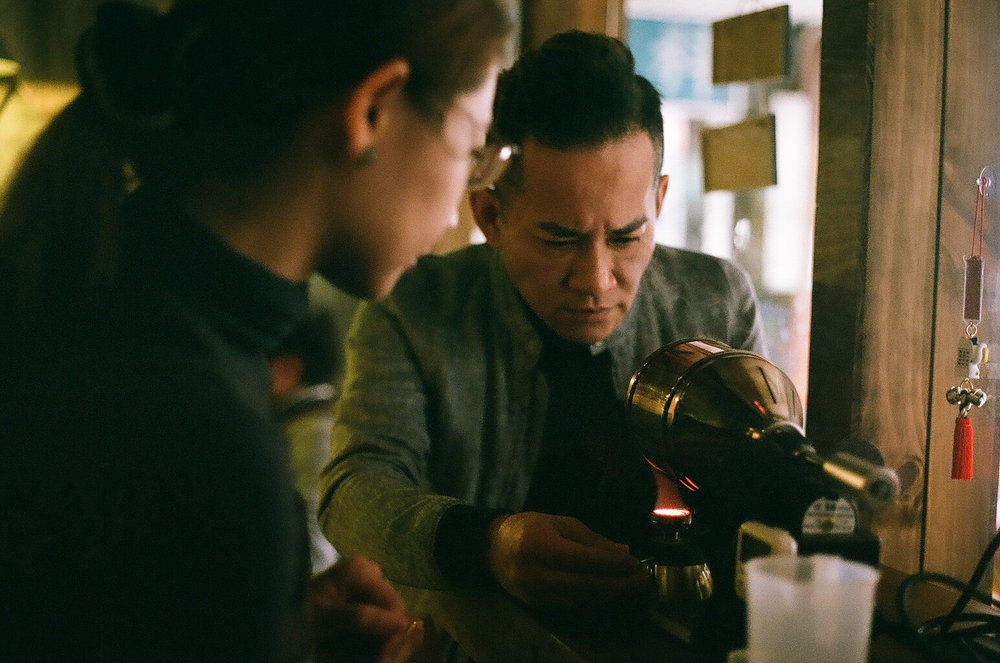 - From Taiwan. was leftover on this roll. This was one of the most interest ways I've seen anyone make coffee. November 2017.