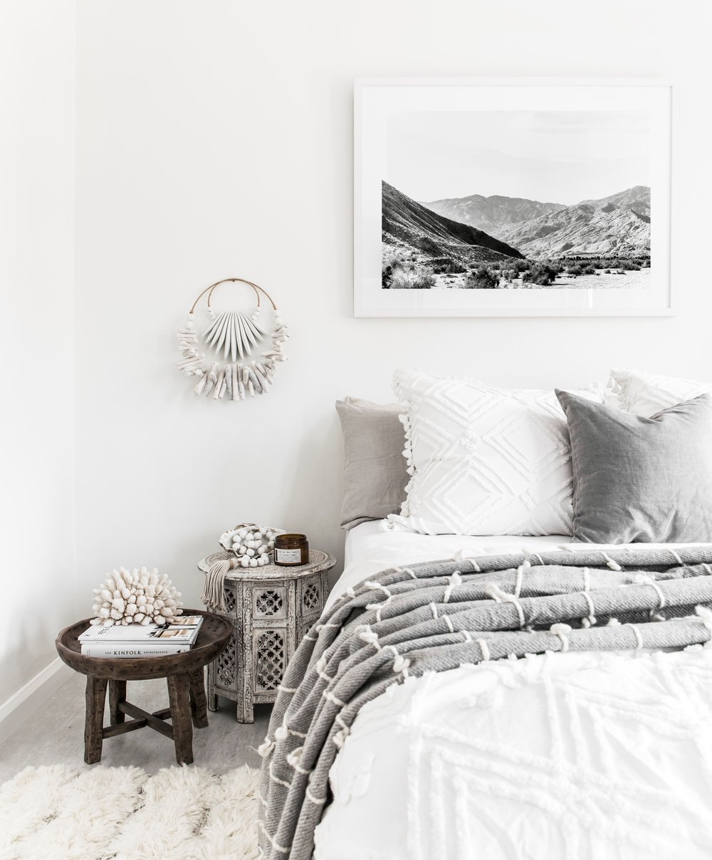 Grey all day... relaxed bedroom style. Photography by The Palm Co