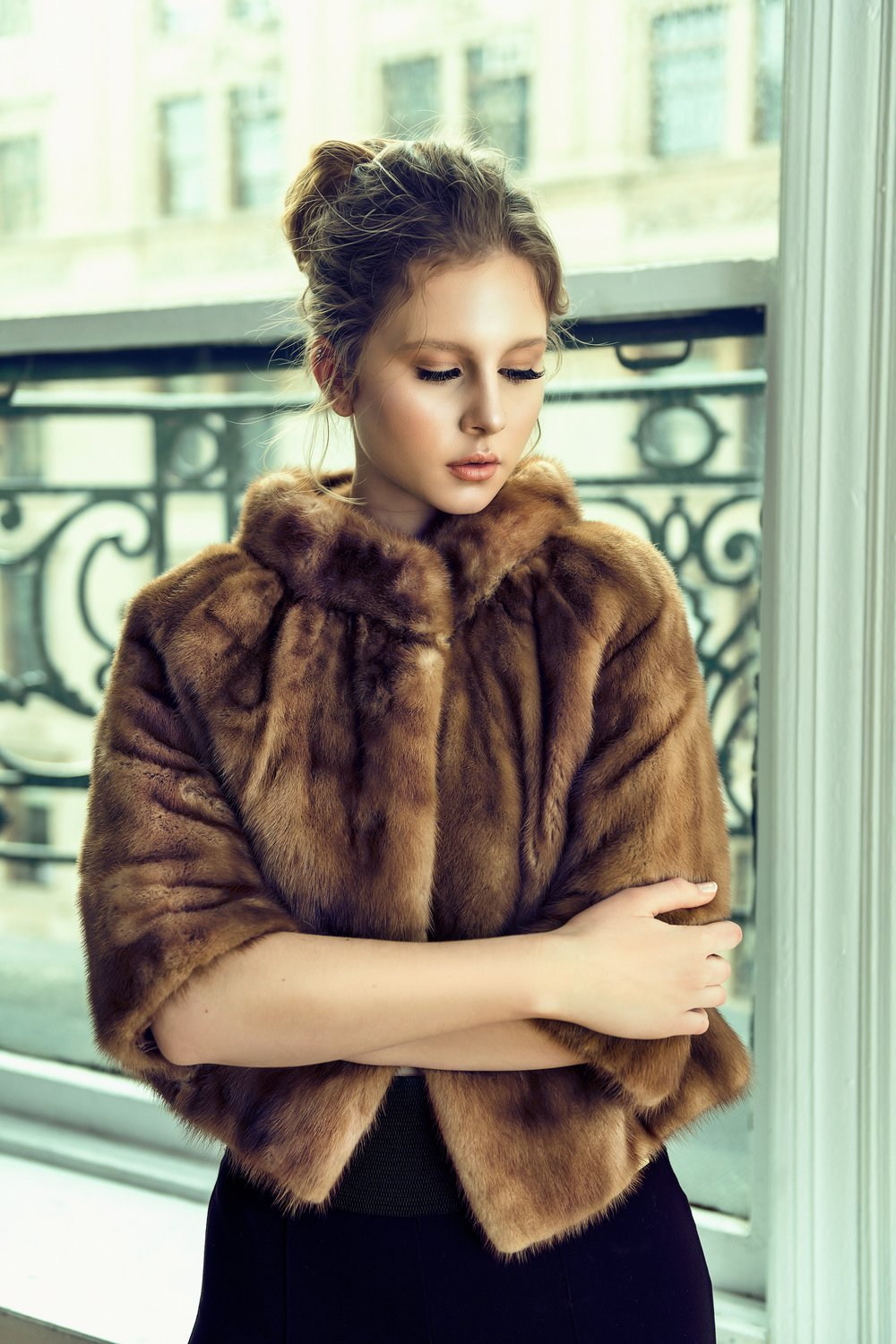 Guild Magazine. Copyright 2018. - Faux Fur Coat: Vinzar / Leggings: Saks 5th Ave